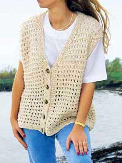Free Vest Knitting Patterns - Summer Time Vest
