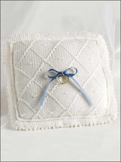 Free Gift Knitting Patterns - Elegant Wedding Pillow