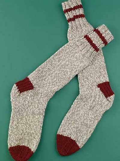 Knit Boot Socks Pattern : Free Winter Clothing Knitting Patterns - Boot Socks