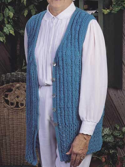 Free Knitting Pattern Long Line Cardigan : Free Vest Knitting Patterns - Long & Lean Sweater Vest ...