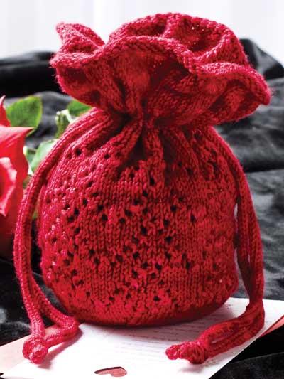 Free Purse Knitting Patterns Beaded Heart Reticule