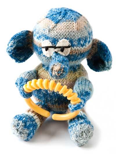 Knitting Patterns Toys Download Free : Free Toy Knitting Patterns - Free Knit Pattern -- Elephant Baby Toy