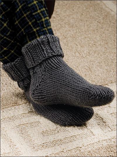 Knit Chunky Socks Pattern: Bernat chunky knit work socks pattern ...